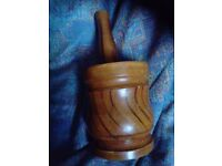 Wooden pestle and mortar £6 (reduced)