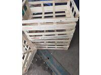 Wooden fruit crates