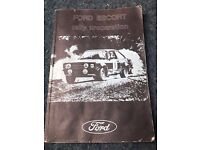 *** Ford Escort Mk2 Rally Preparation Manual *** £40