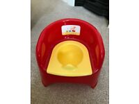Mothercare Boys Girls Red and Yellow 'Little Circus' Potty Chair - GUC