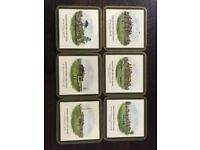 Famous British Gold Clubs Coasters