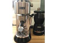 Delonghi Coffee Machine and Coffee grinder