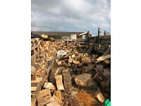 Large builders bags of hardwood logs