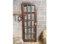 Internal glass and wood door