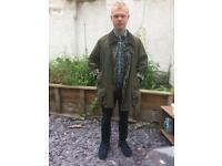 Vintage Original Barbour Wax Jacket with a tin of Wax Thornproof Dressing