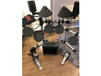 Yahama dtxplorer electric drum kit - with amp and stool