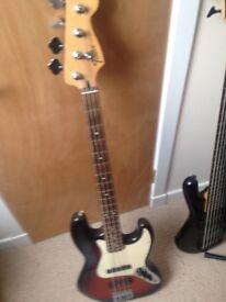 Sunburst Fender Jazz Bass Guitar