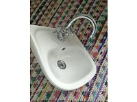 Small White Basin and Taps