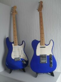 Matching Squire Strat and Tele Affinity's in Cobalt / Electric Blue.