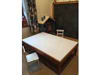 Large wooden/ white coffee table/ children's table