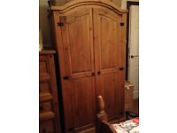 Bedroom furniture, 4ft 6 bedframe with mattress and double wardrobe