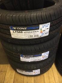 225/40/18 new tyres