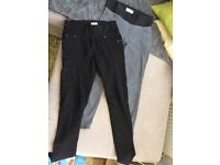 2x Maternity jeans jegging size 8 new look and matalan