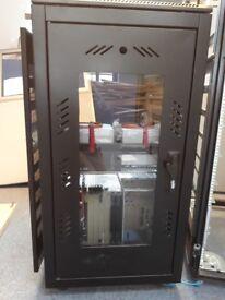 office servers data cabinets. fibre optics