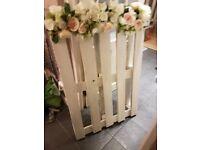 wedding display pallet / table plan