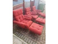 Vintage Retro 1970s Swivel Chairs