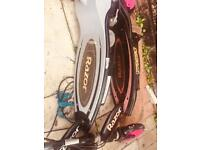 Fully working serviced electrical scooters and bike light excellent parts repair sell exchange