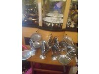 10 fold away chrome cake stands