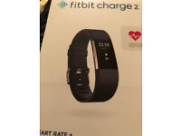 Brand New Boxed Fitbit Charge 2 HR Monotor and Activity Tracker Black Medium
