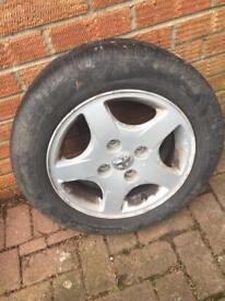 Peugeot 14 inch alloy wheel
