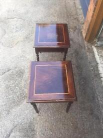 2x wooden tables