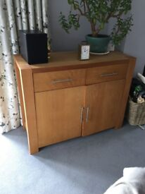 Solid Beech sideboard from Cargo. Linear style