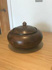Ornamental Carved Bowl with Lid