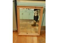 FREE DELIVERY - REAL WOOD - MIRROR - 21 inch X 27 inch or 54 cm x 69 cm