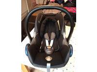 Maxi-Cosi CabrioFix car seat (Digital Black) PLUS Easy-View Plus car mirror