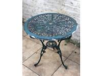 Beautiful Vintage Blue Patio Table