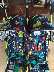 Cossatoo cuddle monster twin stroller