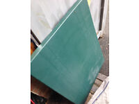 GREEN PLASTIC CAMPING TABLE