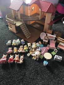 Sylvanian house and accessories
