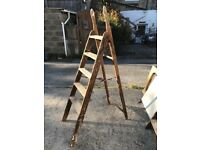 Vintage wooden painters ladder