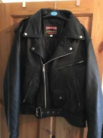 SkinTan real leather jacket in black