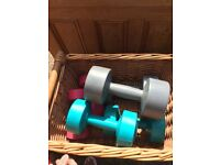 Dumbbells different weights