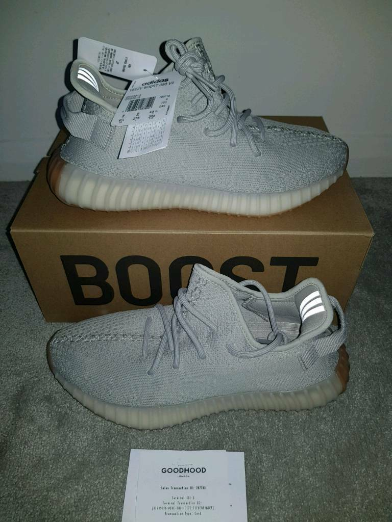 3d8d6cc349049 Brand new in box with tags + RECEIPT Limited Edition Adidas Yeezy Boost 350  V2 Sesame.