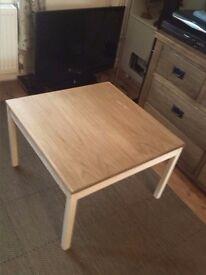 coffee table refurbished + 4 x chair 2x captain chair