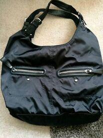 Black DKNY handbag.