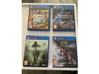PS4 games £10 each game