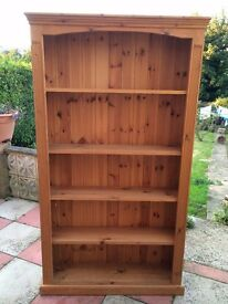 Solid pine book case: £55