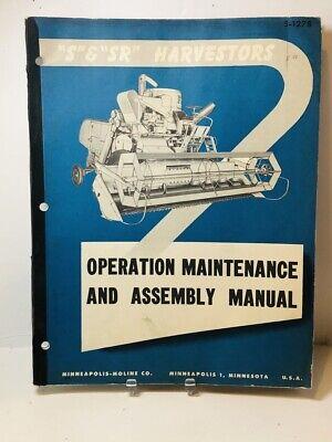 Original Minneapolis Moline S Sr Harvestor Operation Maint. Assembly Manual