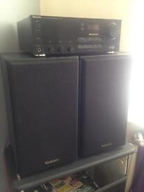 Technics amp and speakers