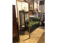 Lovely vintage teak veneer 1960s mirror