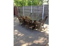 Ercol Table and 8 Chairs