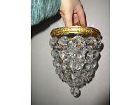 Antique Vintage French Bag Chandelier Light Fitting Light Shade Easy Fit