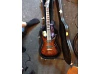 LTD ESP MH-350 NT Dark Brown Sunburst Excellent Condition w/ Hard Case and More Guitar