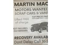 Wanted cars and vans cash paid