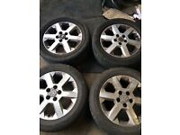 """Genuine Vauxhall Astra Zafira Signum Vectra X4 Alloy wheels and tyres 16"""""""