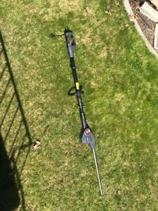 Various garden tools - hedge trimmers, blower
